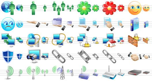 Collection Of Network-related Icons